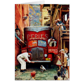 Het Blok van de weg door Norman Rockwell Briefkaarten 0