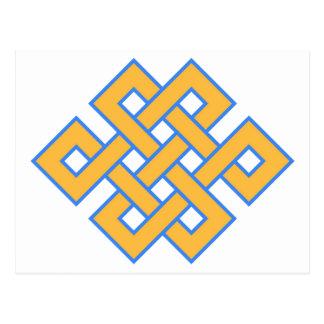 Het boeddhistische Eindeloze Gunstige Symbool van Briefkaart