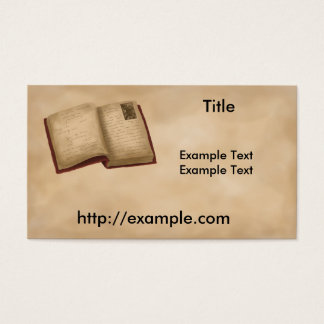 Het Boek van de genealogie Visitekaartjes
