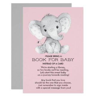 Het Boek van het Baby shower van de olifant voor Kaart