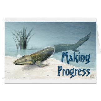 Het boeken van Vooruitgang Briefkaarten 0