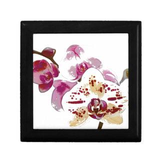 Het Boeket van de Bloem van de Orchidee van Vierkant Opbergdoosje Small