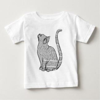 het boeksticker van de kattenlezing baby t shirts