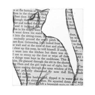het boeksticker van de kattenlezing notitieblok