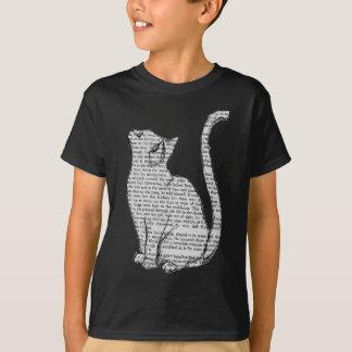 het boeksticker van de kattenlezing t shirt