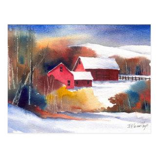 Het Boerderij van de Vallei van New England Briefkaart