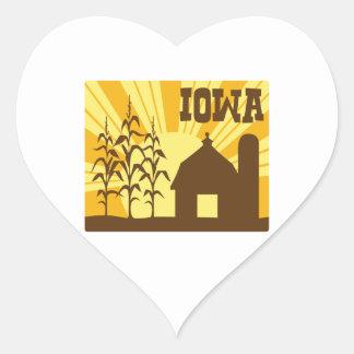 Het Boerderij van het Graan van Iowa Hart Sticker