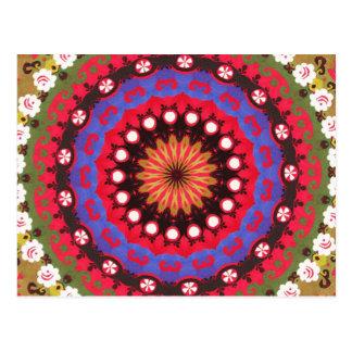 Het Boheemse Stammen Azteekse patroon van het Briefkaart