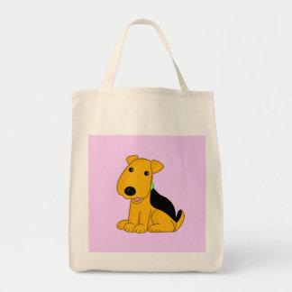 Het Bolsa van de Hond van Airedale Terrier van het Draagtas