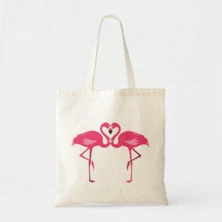 Het Bolsa van de Liefde van de flamingo Draagtas