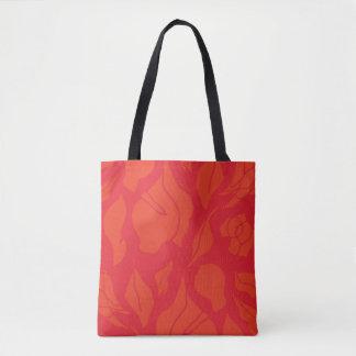 Het Bolsa van Gumleaves - rood & sinaasappel Draagtas