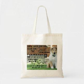 Het bolsa van het de hondpuppy van de collie met draagtas