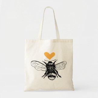 Het Bolsa van het Hart van de Bij van de honing Draagtas