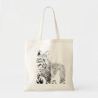 Het Bolsa van het Portret van Bobcat Draagtas