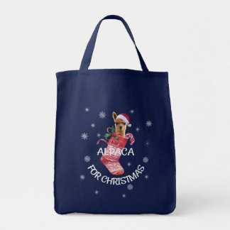 Het Bolsa van Kerstmis van de alpaca Draagtas