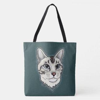 Het bolsazak van de Kat van Lynxpoint Siamese Draagtas