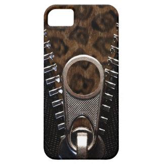 Het Bont van de Druk van de Luipaard van Zippered Barely There iPhone 5 Hoesje