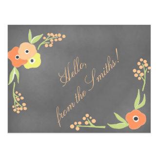 Het bord inspireerde BloemenBriefpapier Briefkaart