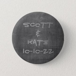 Het Bord van de Datum en van de Naam van het Ronde Button 5,7 Cm