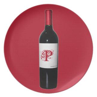Het Bord van de Fles van de Wijn van het monogram