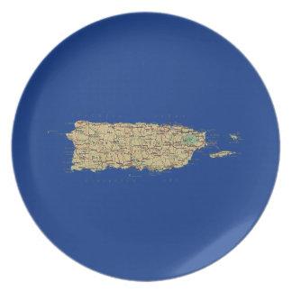 Het Bord van de Kaart van Puerto Rico