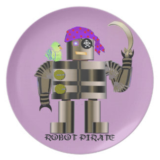 Het Bord van de Melamine van de Piraat van de