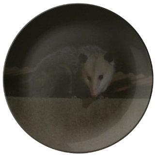 Het bord van de Opossum Porseleinen Bordjes