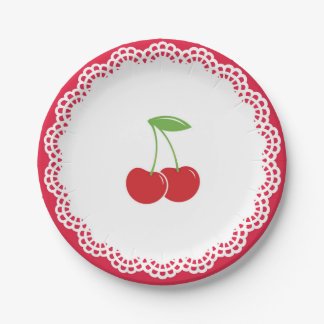 Het Bord van het Dessert van de Partij van de kers