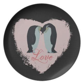 Het Bord van het Hart van de Liefde van de pinguïn