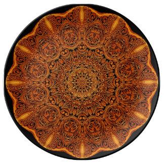 Het Bord van het Porselein van het Vignet van Porseleinen Bord