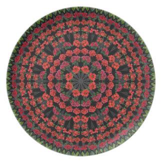 Het Bord van Kerstmis van Mandala van poinsettia