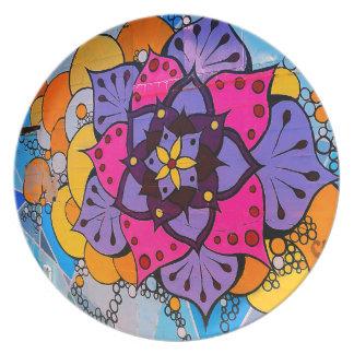 Het Bord van Mandala van de bloem