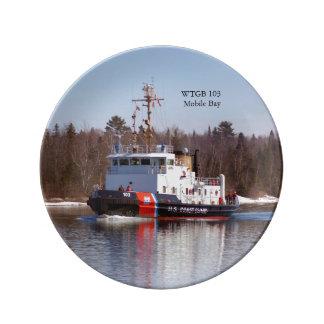 Het bord van WTGB 103 Moblie Baydecorative Porselein Bord