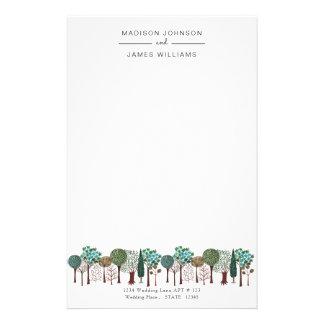 Het Bos Bos   Huwelijk van bomen   Briefpapier