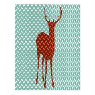 Het bos Briefkaart van Herten