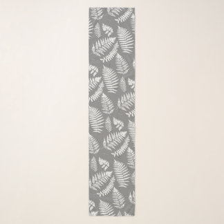 Het bos Grijs/Grijs en Witte Patroon van de Varen, Sjaal