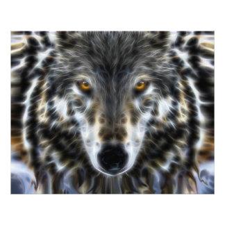 Het bos Inspirerend Portret van de Wolf Foto Prints