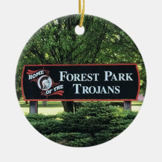 Het bos Ornament van de School van het Park