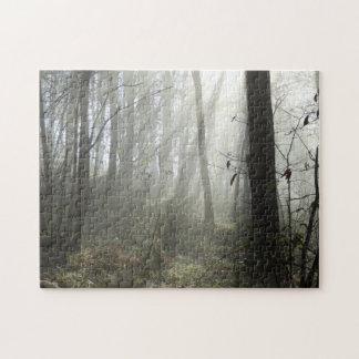 Het bos Raadsel van de Foto van de Mist van de Puzzel
