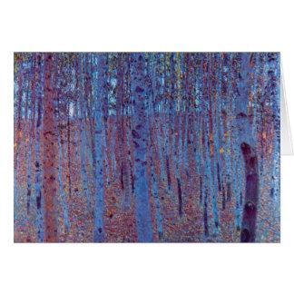 Het Bos van de beuk door Gustav Klimt, Vintage Briefkaarten 0