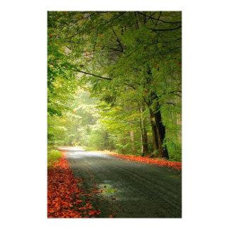 Het Bos van de Lente van de Weg van de natuur Briefpapier