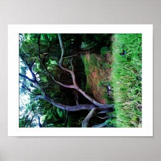 Het Bos van de Rivier van Sacramento Poster