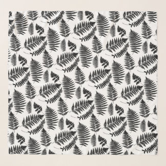 Het bos Zwart-witte Patroon van de Varen, Sjaal