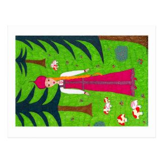 Het BosBriefkaart van de paddestoel Briefkaart