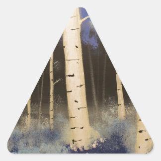 Het Bosje van de esp Driehoek Stickers