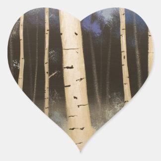 Het Bosje van de esp Hartvormige Sticker