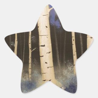Het Bosje van de esp Ster Sticker