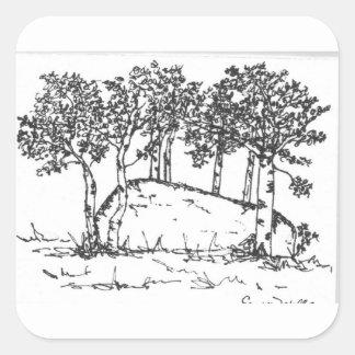 Het Bosje van de esp Vierkante Sticker