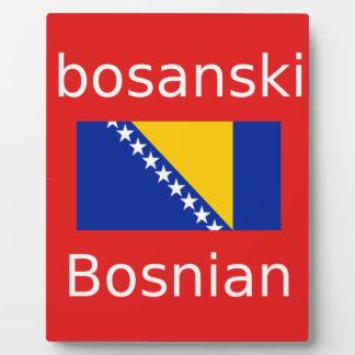 Het bosnische Ontwerp van de Taal Fotoplaat