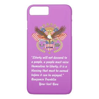 Het BosViooltje van de patriottische Vrede iPhone 8/7 Plus Hoesje